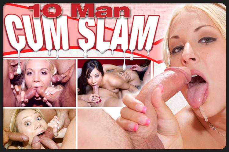 10ManCumSlam bukkake porn site preview images