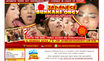 Popular pay porn site for bukkake videos.