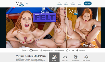 Nice porn pay site for sexy MILFs in VR sex scenes.